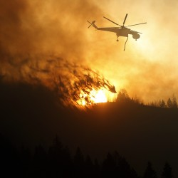 Wildfire burns 92,000 acres, threatens Idaho ski resort towns as 200 homes evacuated