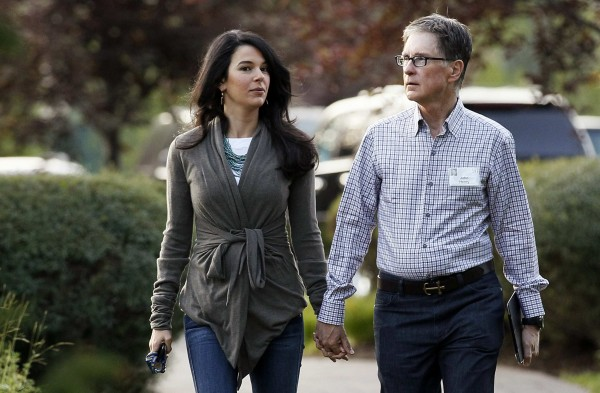 Boston Red Sox owner John Henry and wife Linda Pizzuti.