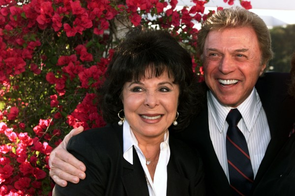 Singers Steve Lawrence and Edyie Gorme pose as they arrive at &quot An Evening with Larry Gelbart&quot at The Museum of Television & Radio in Beverly Hills, in this July 11, 2000, file photo. Eydie Gorme has died, according to media reports. She was 84.