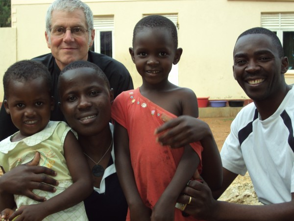 The Rev. Chuck Bradshaw, former rector of the Episcopal Church of Our Father in Hulls Cove, last year posed with students and staff at the Lutaaya Theological College and Vocational Center in Mityana, Uganda. Bradshaw and his wife, Beth Bradshaw, will return next month to teach at the school for three years.