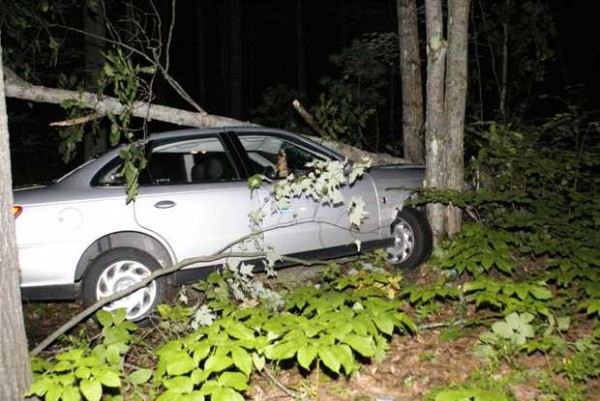 Early Sunday morning Veronika Christman, 22, of West Paris drove off the Skeetfield Road in Oxford, totaling her 2002 Saturn. Sgt. Rickie Jack of the Oxford Police Department said Christman was traveling northbound with her 2-year-old son when it appears she fell asleep at the wheel.