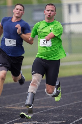 Josh Kennison, an elite para-athlete from South Paris, Maine, recently won a bronze medal in the 100-meter sprint in the International Paralympic Committee Athletics World Championships in Lyon, France.