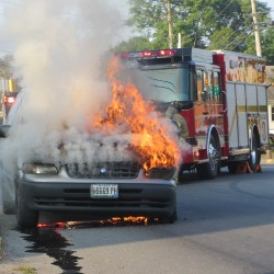 Lincoln woman's vehicle catches fire on interstate