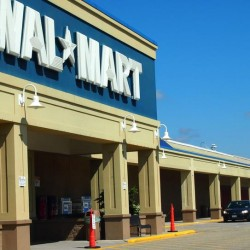 The Wal-Mart on U.S. Route 1 in Falmouth Tuesday, July 30, with the empty, former Regal Cinemas at the far end of the building. Wal-Mart is not moving forward with plans to expand the store from 92,000 square feet to 124,000 square feet.