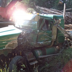 Driver on cellphone injured after crashing into parked potato truck in Aroostook County