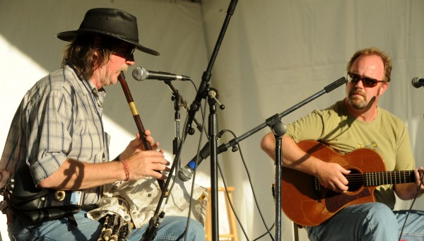 Paddy Keenan (left) and John Walsh perform at the 2010 American Folk Festival.