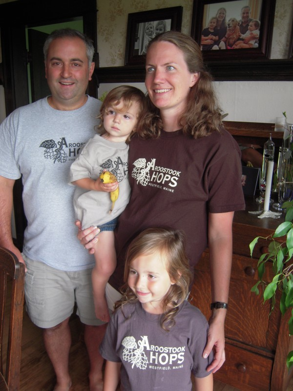 Jason Johnston and Krista Delahunty with their daughters Marie, 2, and Kathleen, 4.
