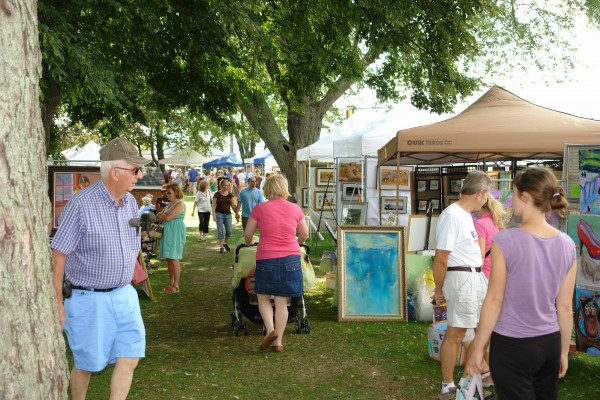 Art in the Park, held Saturday in South Portland, brings together up to 200 artists from across the state.