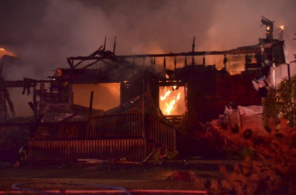 The Westcustogo Grange Hall in North Yarmouth burned to the ground overnight Thursday and into Friday morning.