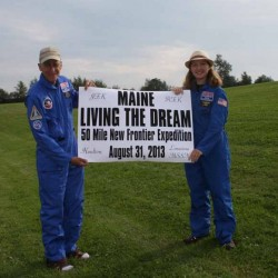Aroostook County astronomy teacher hikes 50 miles in 1 day — Houlton to Limestone — in memory of JFK