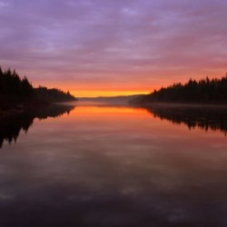 A brilliant Umsaskis sunrise on the Allagash Wilderness Waterway.