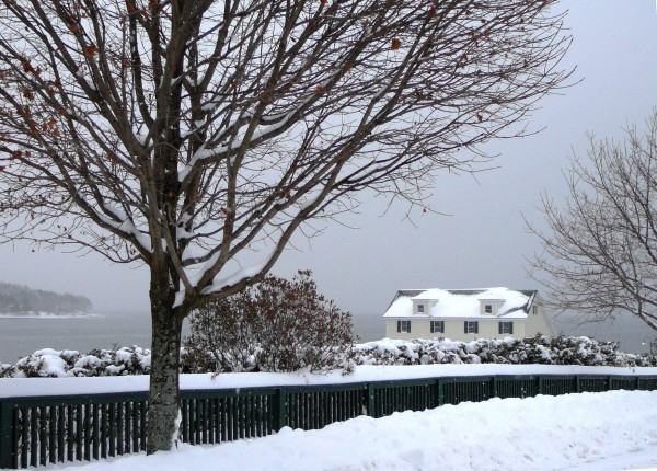 Belfast Boathouse in the winter.