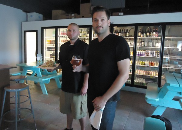 Bridgton natives Alvah Johnson and William Holmes (from left) opened Standard Gastropub in a gas station to bring quality food and a tank of gas to town.