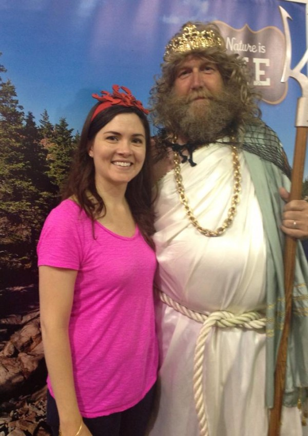 Cara Chancellor of The Nature Conservancy posed recently with King Neptune at the Maine Lobster Festival. The five-day celebration was one stop on the environmental advocacy group's ongoing tour of Maine fairs, festivals and farmers' markets with a goal of educating more people about the importance of conservation and nature in Maine.