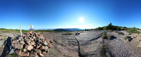 A photograph on the West Face Trail on Cadillac Mountain in Acadia National Park is captured by photographers in July 2013 for Terrain360.