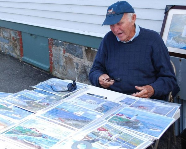 Bill Thompson has been selling his artwork at Fort Williams Park for 15 years, with at least 50 percent of his earnings donated to park upkeep. He supports regulating all merchandise sales in the park. &quotOtherwise, you are going to have a zoo in here,&quot he said.
