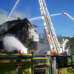 Fire destroys apartment building in Madawaska