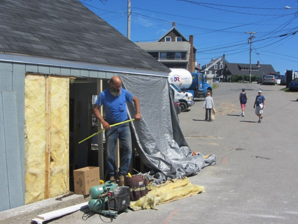 epairs were being made Monday morning to the Sea Star craft shop in Port Clyde, which was damaged when a car careened into it Sunday afternoon. The car later struck a family, killing a 9-year-old boy.