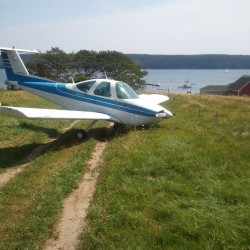 Plane makes emergency landing in Blue Hill field