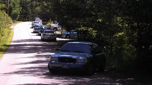 Police line Peakes Hill Road Thursday afternoon in Dedham