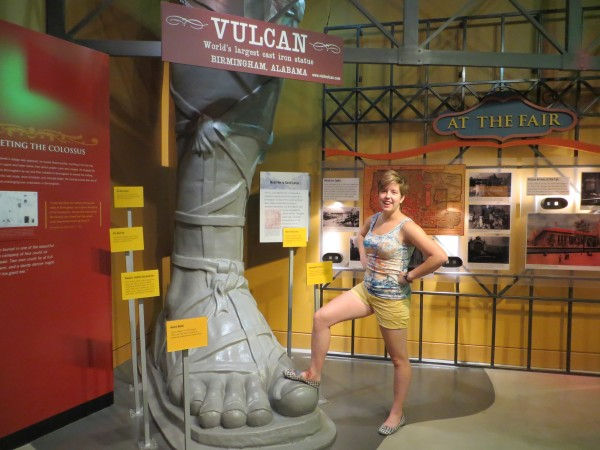 Tessa Wood visited Birmingham Alabama's Vulcan Park Museum on road trip to New Orleans.