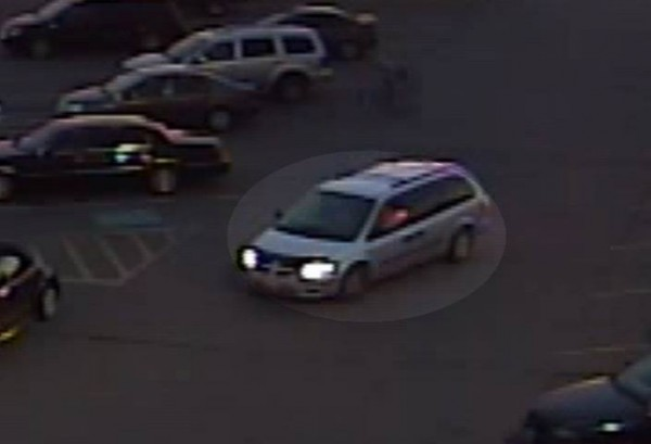 The two suspects in an identity theft case were seen leaving Walmart in Brewer on Sunday in this minivan. Brewer police are seeking the public's help in identifying the suspects.
