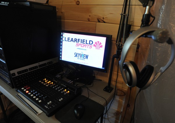 Dan Priestly recently landed the University of Maine sports bid to begin in the fall.  They will broadcast both men and women's basketball games, all baseball games and select softball games. The equipment used to broadcast the games is set up and ready for use.