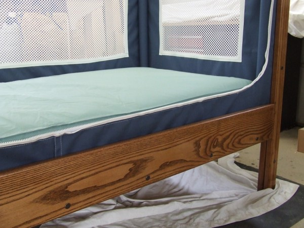 Patrick Cyr's business, Courtney Bed Inc., has the potential to expand beyond Millinocket. Cyr builds beds, like the one shown, for children with special-needs.
