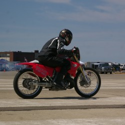 New Brunswick motorcyle racer sets records at Loring speed event