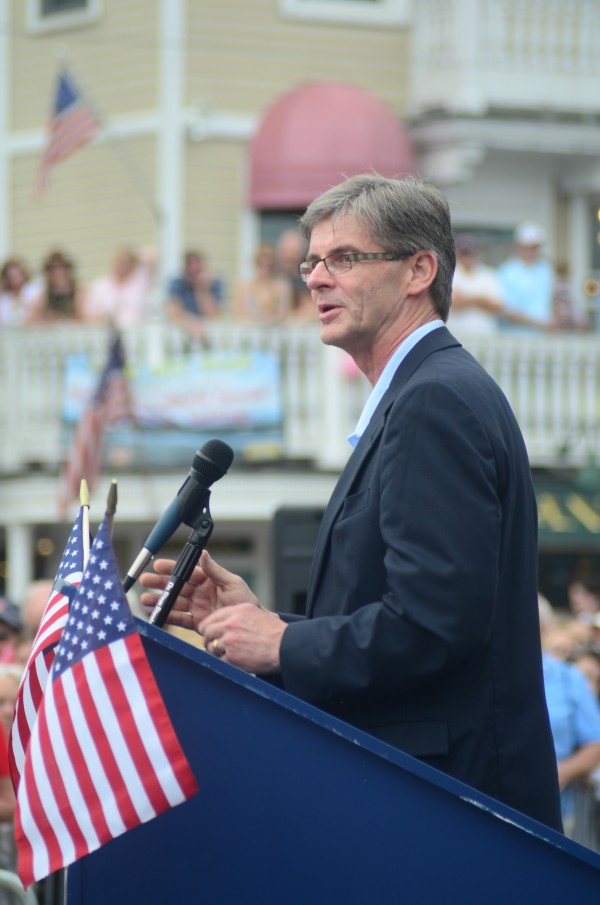 Larry Mead, seen here in his capacity as Kennebunkport town manager on Memorial Day 2011, has been chosen as the new town manager for Old Orchard Beach.