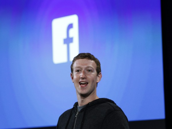 Mark Zuckerberg, Facebook's co-founder and chief executive speaks during a Facebook press event in Menlo Park, California, in this April 4, 2013 file photo.
