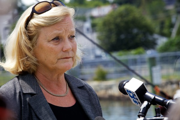 U.S. Rep. Chellie Pingree said at a news conference in Portland Wednesday that she blames the sequester and Congress, of which she is a member, for the Navy's decision not to repair the U.S.S. Miami after a 2012 fire heavily damaged the submarine.