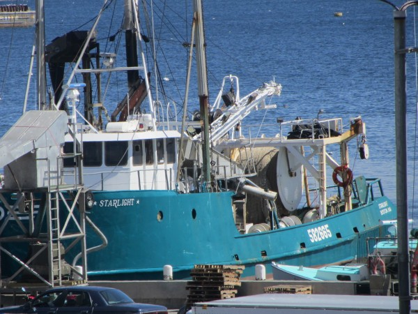 Two men were apparently overcome by hydrogen sulfide gas while working aboard the fishing vessel Starlight docked at Rockland's North End.