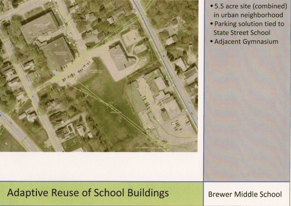 Brewer Middle School site plans