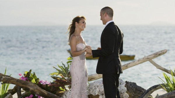 In this photo provided by ABC, &quotBachelorette&quot Ashley Hebert, a Madawaska native, chooses J.P. Rosenbaum on the season finale of &quotThe Bachelorette.&quot
