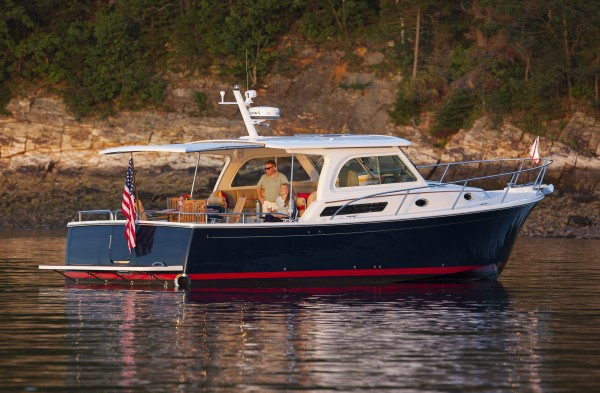 The Back Cove 37 from Back Cove Yachts in Rockland will be among the boats on display this coming weekend at the 11th annual Maine Boats, Homes & Harbors Show in Rockland.