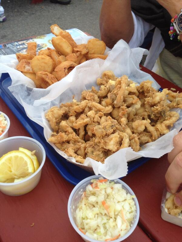 Mario Batali tweeted his fried clam dinner at Harraseeket Lunch and Lobster Co. in South Freeport this week.