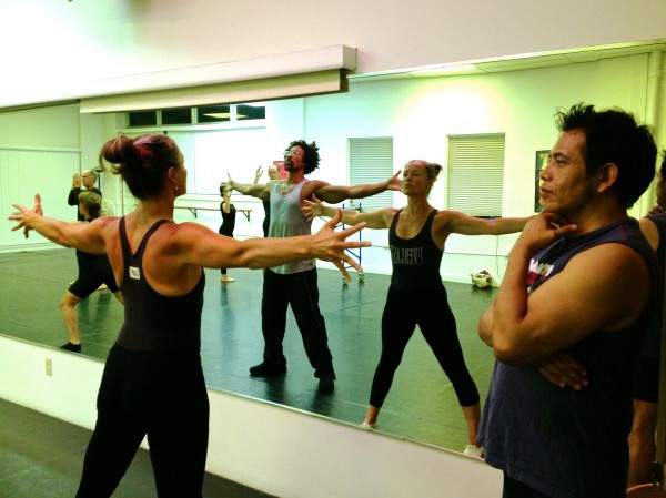 Esduardo Mariscal, far right, directs a rehearsal of his dance production &quotLuz,&quot which comes to the Portland Stage Company this week.