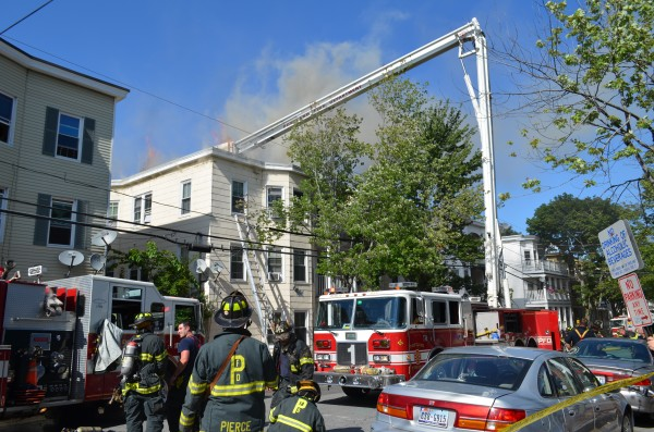 This 129 Grant St. apartment building in Portland received more than $225,000 in damage due to a Wednesday afternoon fire. As many as 41 people were displaced by the blaze.