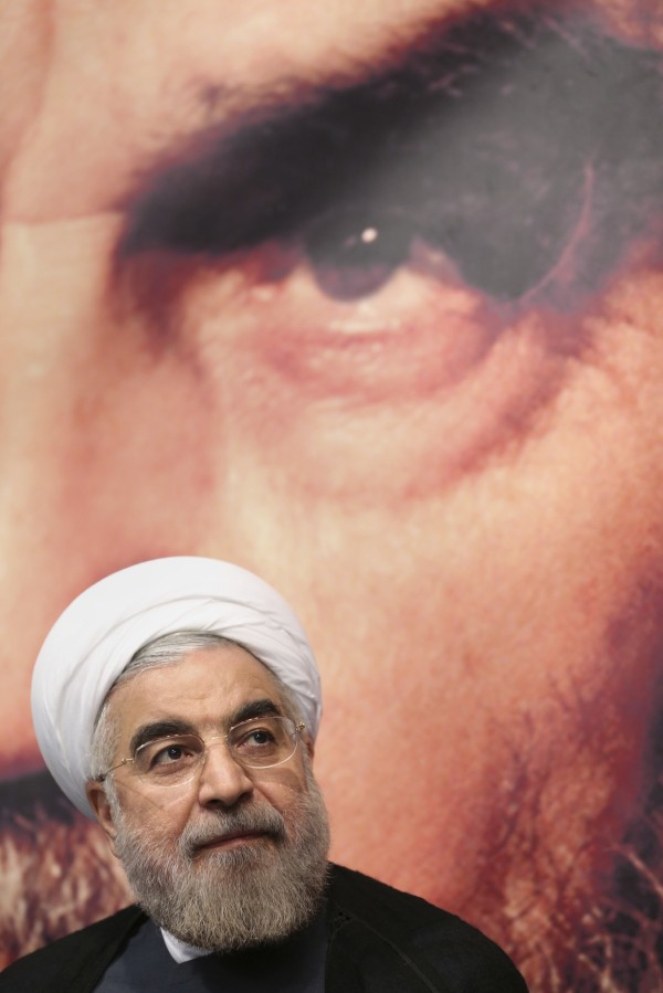Hassan Rouhani is seen in Tehran in this June 1, 2013 file photo.