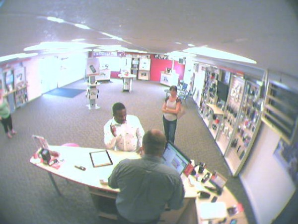 Another surveillance photo of a man police say stole two cell phones worth more than $1,000 for a Verizon Wireless Zone store in Newport on Saturday.