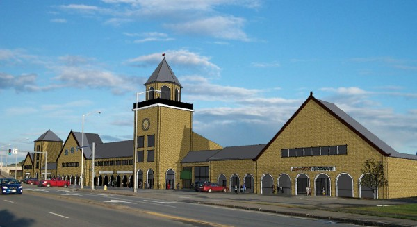 The owners of Penobscot Plaza in Bangor would like to rebuild the strip mall to resemble the building it replaced: Union Station.