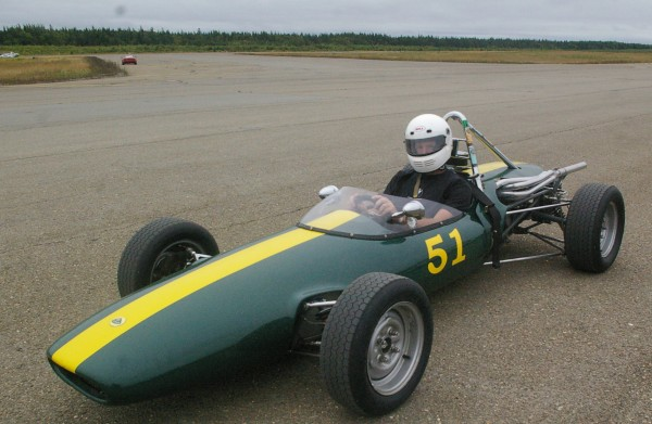 Retired mechanical engineer Mark Daniele of Pownal races his restored 1968 Lotus Formula Ford at autocross events throughout the New England area and will be at the event at Loring Air Force Base on Saturday.
