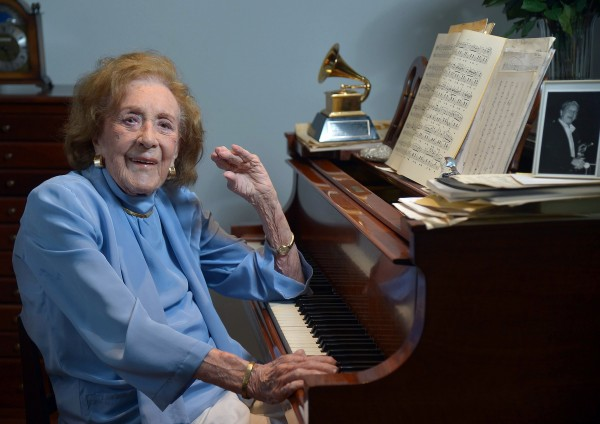 Jazz great Marian McPartland, 95, sits at the piano in her living room on May 27. McPartland, the trailblazing jazz pianist who for 33 years hosted the NPR program &quotPiano Jazz,&quot died at her Long Island home on Monday, Aug. 20, 2013.