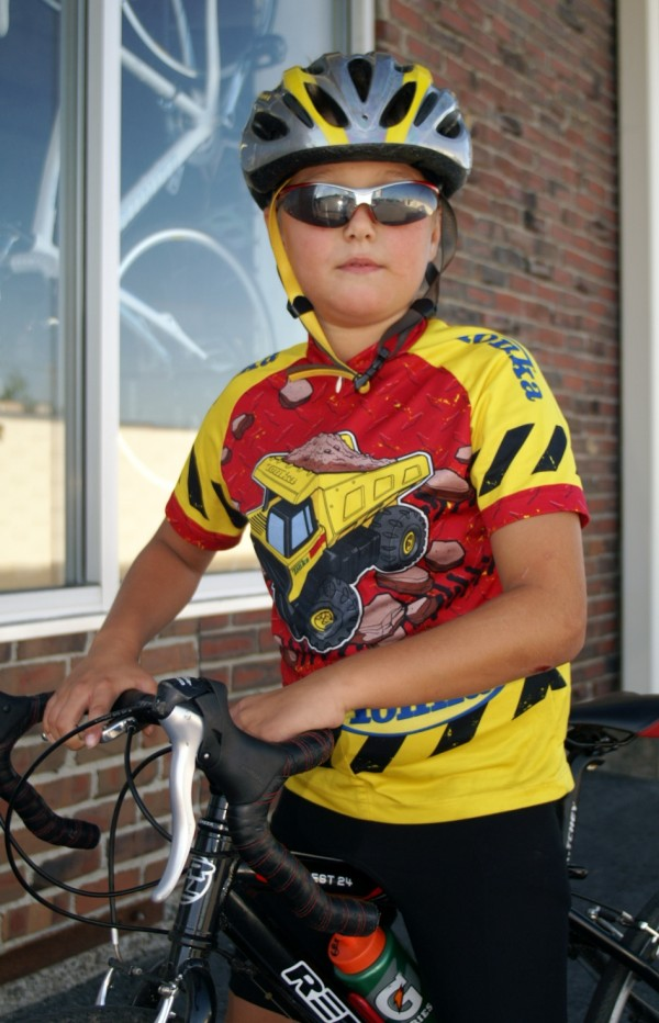 10-year-old Matthew Gross is riding his bike 22.5 miles on Thursday, Aug. 15, 2013, to raise money for the Bangor Humane Society. He said he adopted a beagle last year that inspired him to create the Ride for the Wet Nose to benefit the local animal shelter.