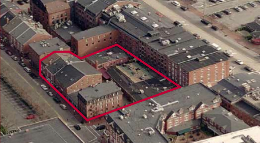 The block of properties in the heart of Portland's Old Port heading for the auction block in September.