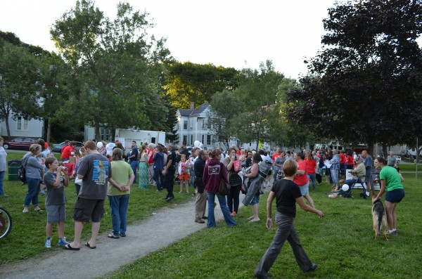 Hundreds gathered in Second Street Park in Bangor on Tuesday evening for Neighborhood Night Out, part of the National Night Out aimed at heightening crime and drug-prevention awareness, generating awareness for local neighborhood watch programs and fostering neighborhood spirit.