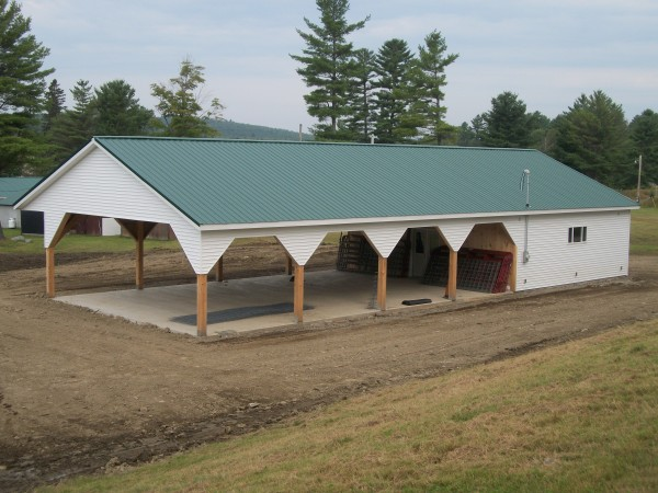 The new Fiber Arts Livestock Barn on the Harmony Labor Day Free Fair fairgrounds.