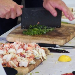 Amateur chefs compete in seafood cooking contest