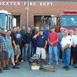Members of Dexter and Garland Fire Departments